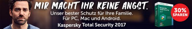 MIR MACHT IHR KEINE ANGST - 30% sparen - Kaspersky Total Security