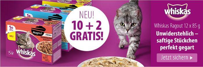 Neu´bei Zooplus: 10 + 2 Gratis Whiskaspackungen
