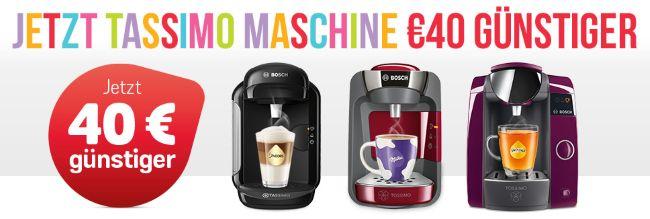 Jetzt TASSIMO Maschine 40€ günstiger