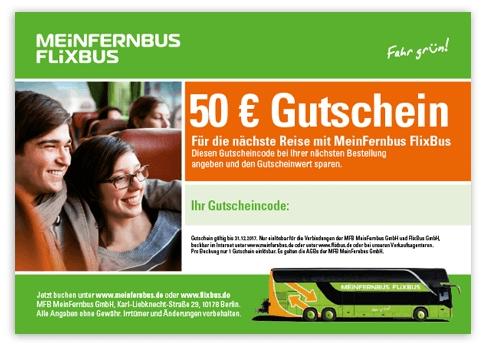 Flixbus Gutscheincode